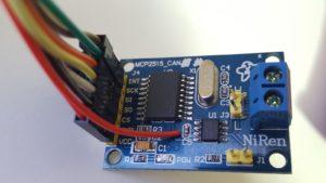 MCP2515モジュール表面
