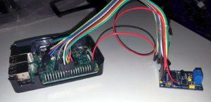 Raspberry Pi と MCP2515モジュール接続後